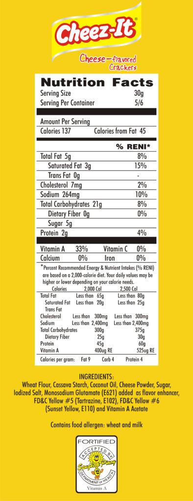 Cheez-It Snack | Nutristateline